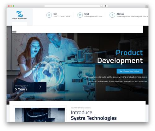 Template WordPress Tectxon - systra-tech.com