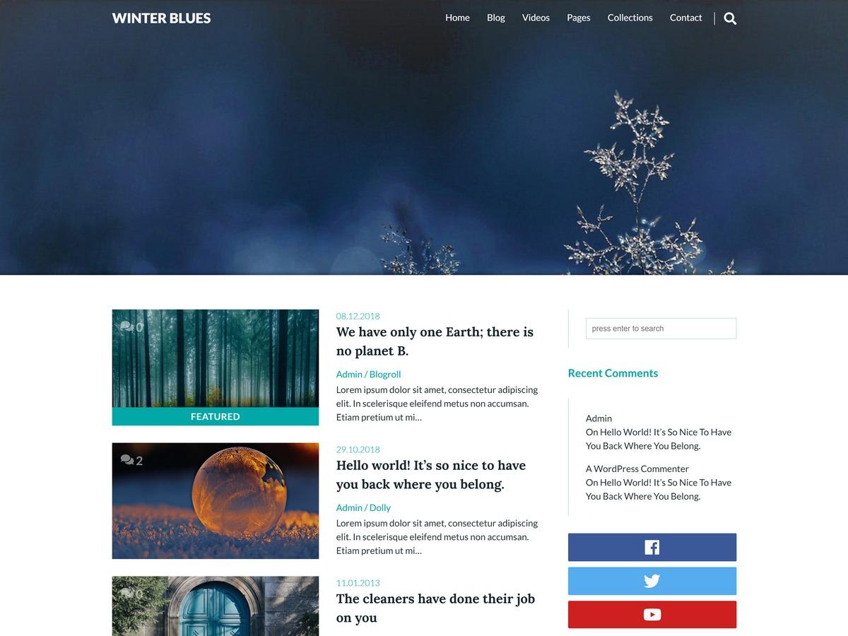 Theme WordPress Winter Blues