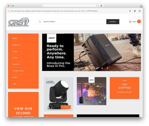 Woostroid WordPress theme design - crshop.co.uk