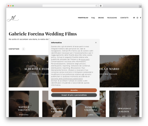 WordPress theme AVE - gabrieleforcina.com