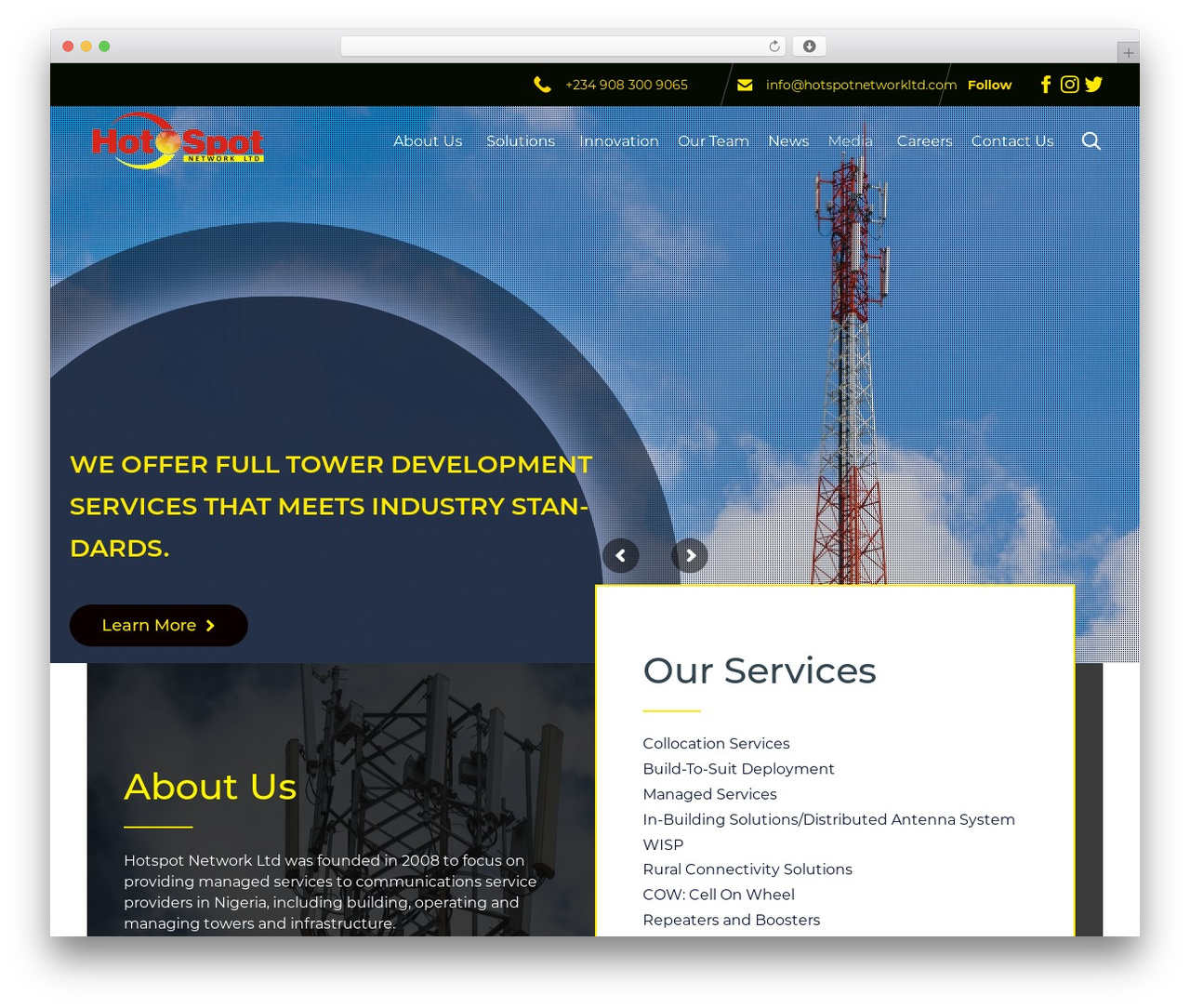 WordPress theme (VamTam) Consulting - hotspotnetworkltd.com