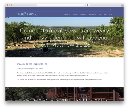WordPress website template Eden - tscretreat.com