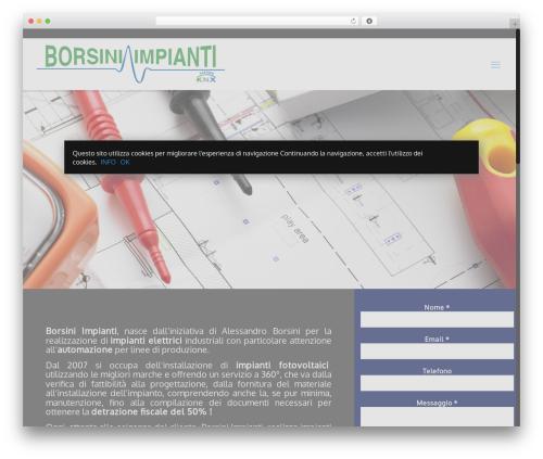 WP template Betheme - borsiniimpianti.com