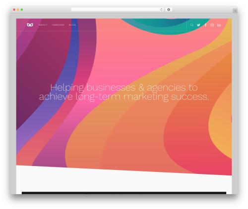 WP template Movedo - colourfulowl.com