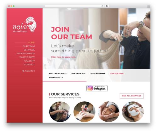WP theme BeautySpot - nolashairsalon.com