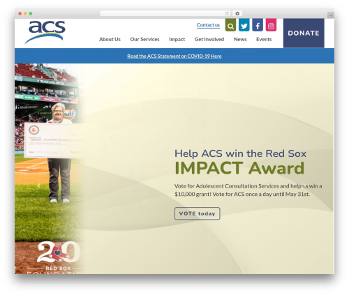 ACS WordPress page template - acskids.org