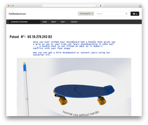 Astore best WordPress template - poleskateboard.com