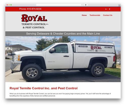 Avada WordPress theme - royaltermitecontrol.com