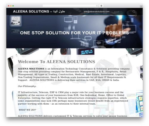 Best WordPress template Services - aleenasolutions.com