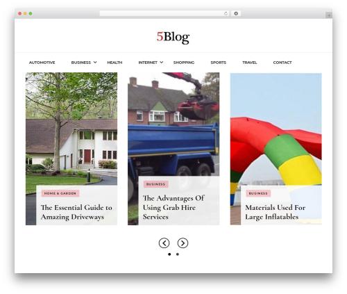 Blossom Fashion WordPress blog template - 5blog.org