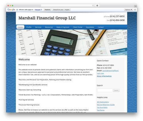 Customized WordPress template for business - marshallfinancial1.com