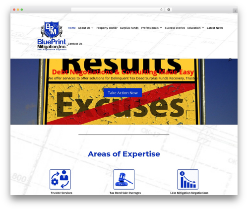 Divi WordPress template for business - blueprintmitigation.com
