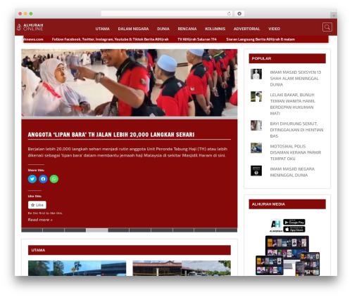 Dynamic News WordPress website template - alhijrahnews.com