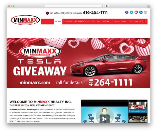 Estato real estate template WordPress - minmaxx.com