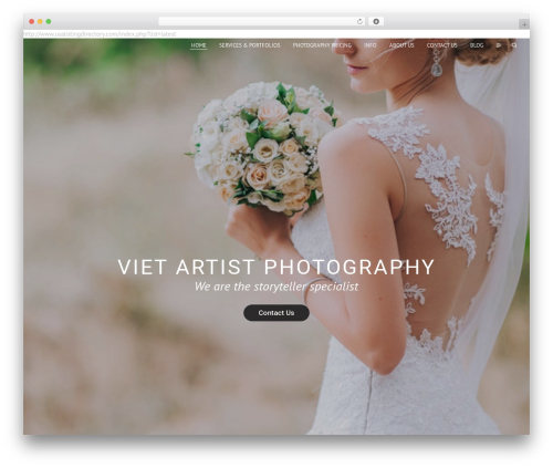 Etudes WordPress wedding theme - vietartistphotography.com
