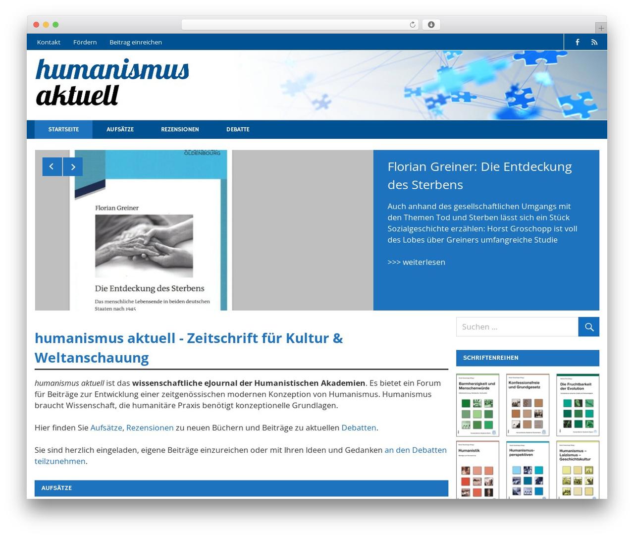 Merlin template WordPress free - humanismus-aktuell.de