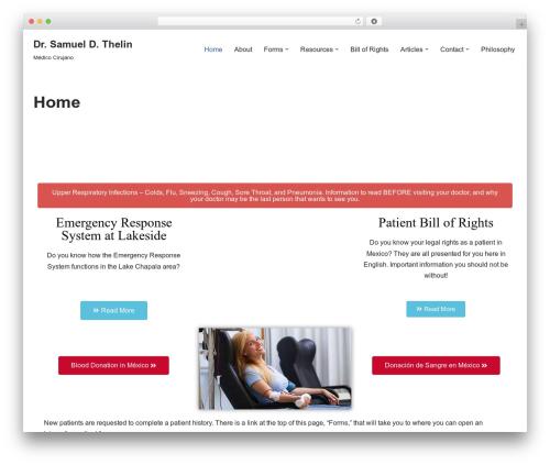 neve WordPress theme design - drthelin.com