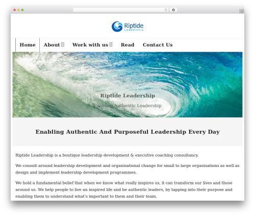 Shuttle Pro WordPress theme - riptideleadership.com