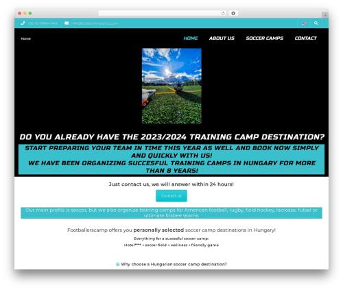 SportCenter WP template - footballerscamp.com