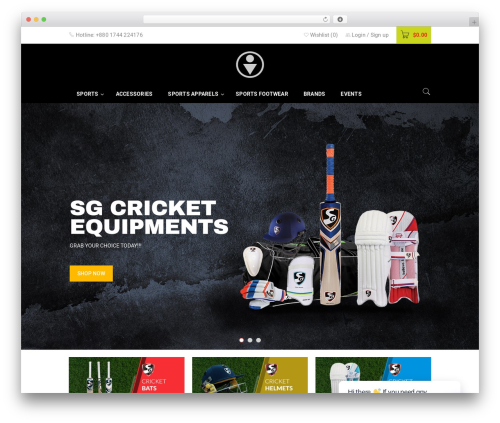 Theme WordPress BoxShop - snpsports.com