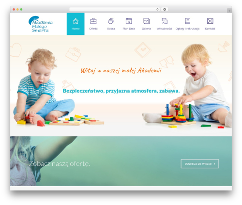 Theme WordPress Fable - Children Kindergarten WordPress Theme - smerfy.org