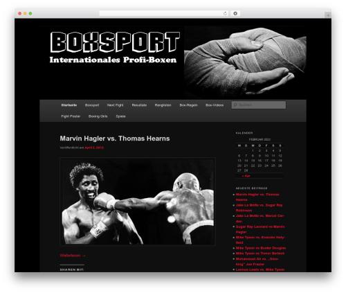 Twenty Eleven WordPress template free - boxsport.org