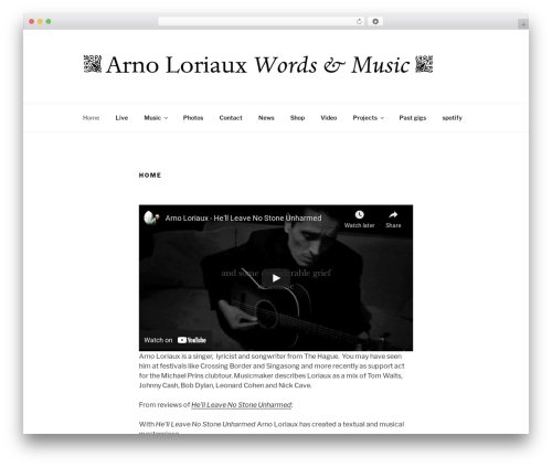 Twenty Seventeen free WordPress theme - arnoloriaux.com