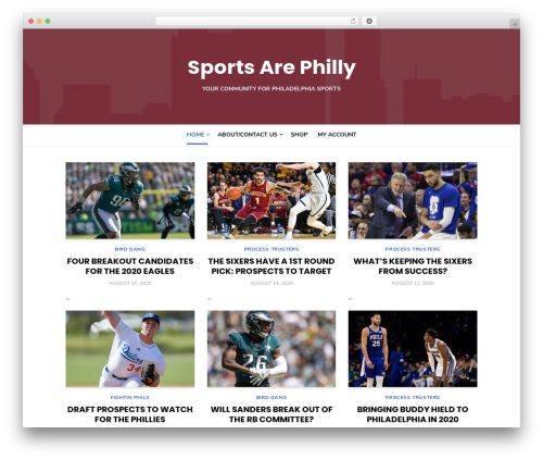 Type Plus top WordPress theme - sportsarephilly.com