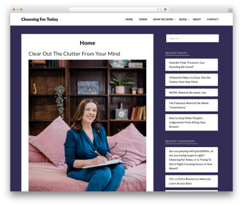 WordPress theme Bloggist - choosingfortoday.com