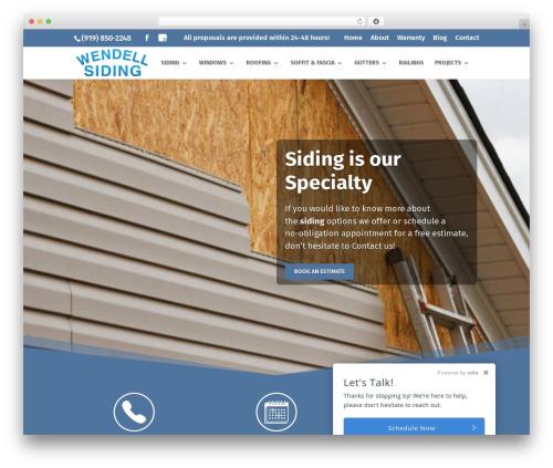 WordPress theme Divi - wendellsiding.com