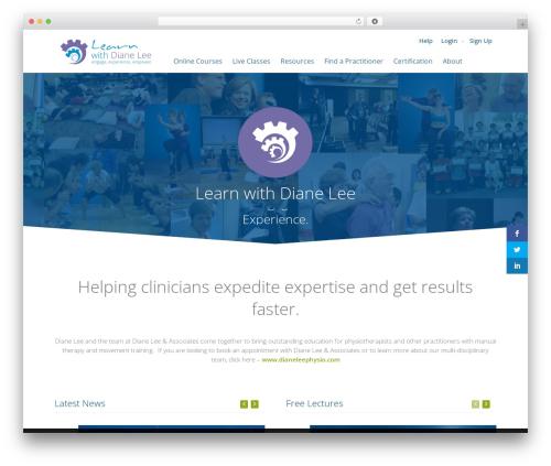 WPLMS massage WordPress theme - learnwithdianelee.com