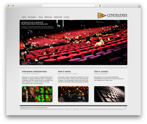 Andromeda best WordPress template - cinematrix.info