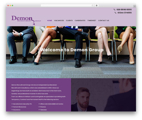 Best WordPress template Demongroup - demongroup.co.uk