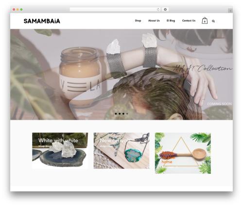 Best WordPress theme Bazaar - thesamambaia.com