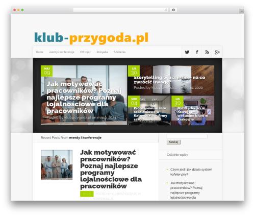 Best WordPress theme Nexus - klubprzygoda.pl