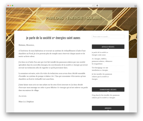 Bulan WordPress theme download - parlons-energie-solaire.com