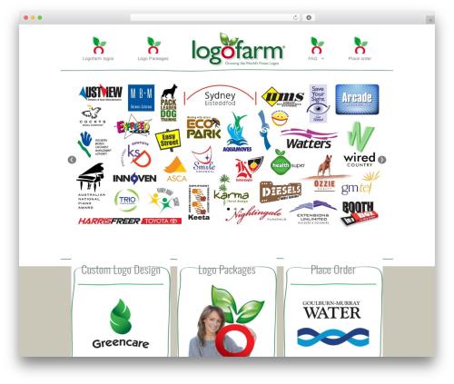 Gemini WordPress website template - logofarm.com