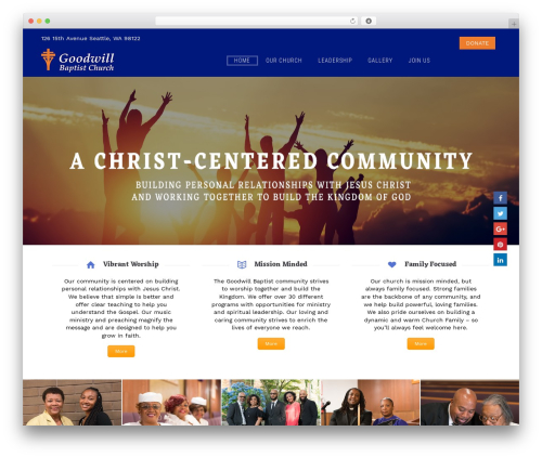 Grace-church top WordPress theme - gbcnorthwest.org