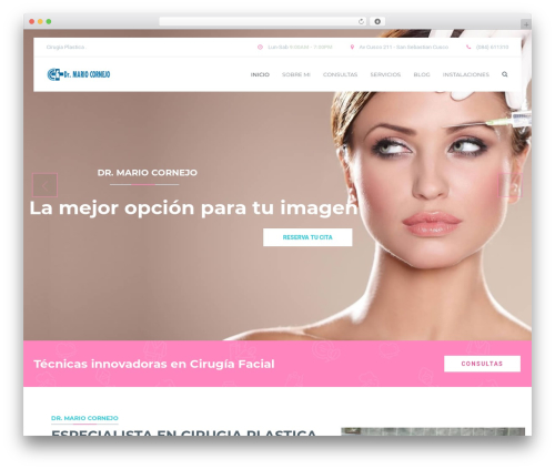 MedicPlus top WordPress theme - cirugiaesteticacusco.com