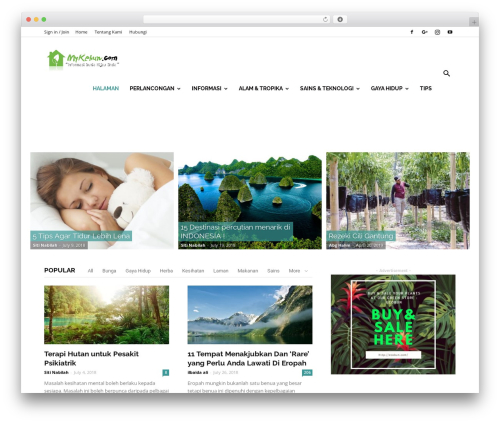 Newspaper premium WordPress theme - mykebun.com