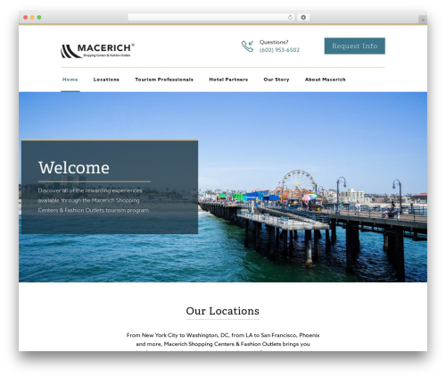 Reneva WordPress website template - macerichtourism.com