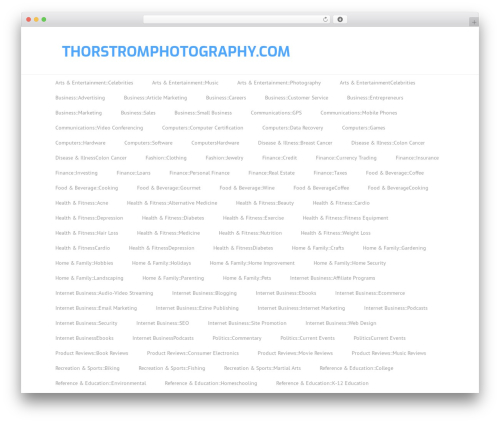 Split WordPress template for photographers - thorstromphotography.com