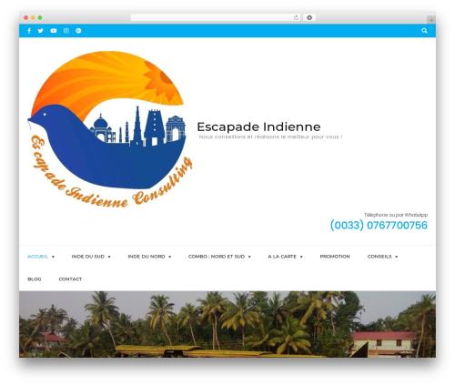 Travel Agency Pro WP template - escapadeindienne.com