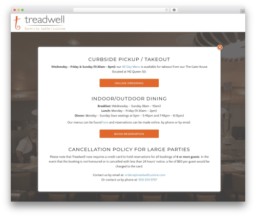WordPress template Awe-Ambrosia - treadwellcuisine.com