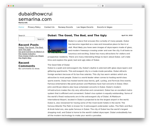 WordPress theme Black Line - dubaidhowcruisemarina.com