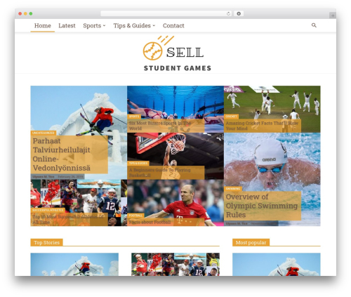 WordPress theme Newspaper - sell-studentgames.com