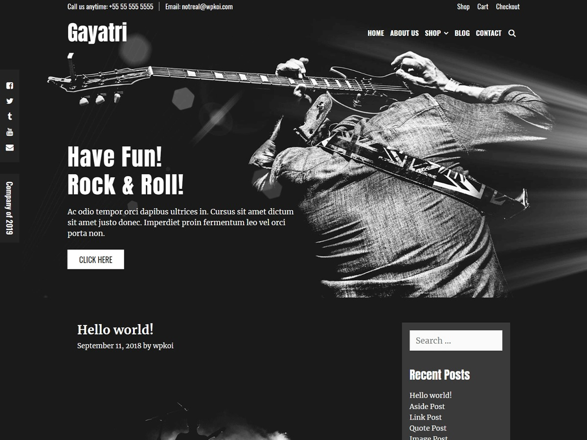 WP template Gayatri by Shri Web Solution