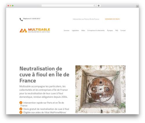 Best WordPress template Divi - multisable.com