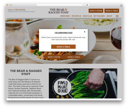 Best WordPress theme Peach Pubs - bearandraggedstaff.com