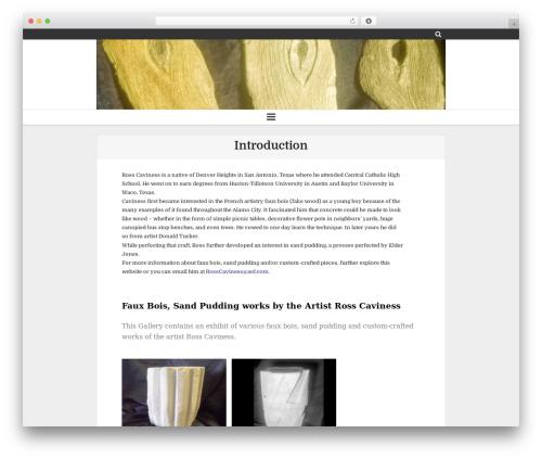 Clean Gallery WordPress photo theme - rosscaviness.com